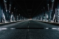 沿途唯美的公路风景图片壁纸