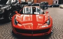酷炫红色跑车高清图片壁纸