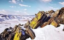 巍峨壮观的雪山风景图片壁纸