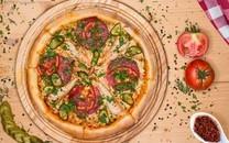 好吃美食诱人的可口披萨图片壁纸
