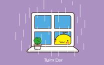 油爆叽丁下雨天iPad壁纸