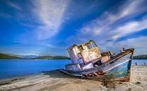 大海与船只高清精彩图片壁纸2