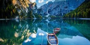 山水船风景图片桌面壁纸