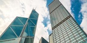 高楼大厦的天空图片壁纸