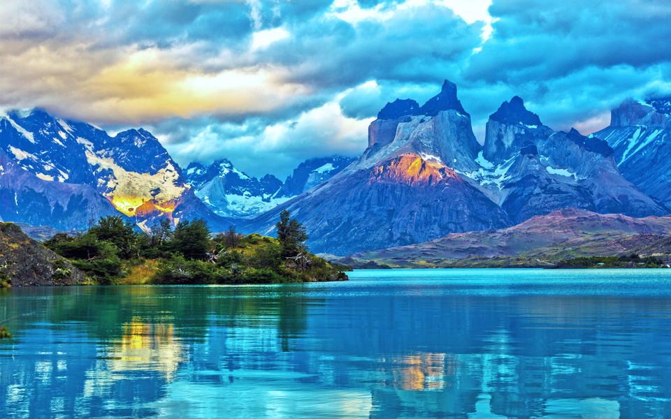 唯美蓝色桌面风景壁纸