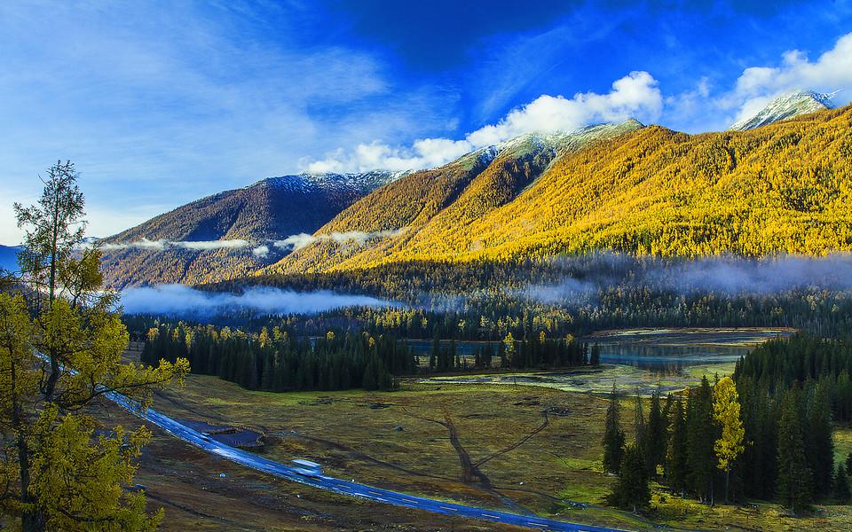 电脑壁纸 自然风景壁纸 新疆喀纳斯风景高清壁纸下载