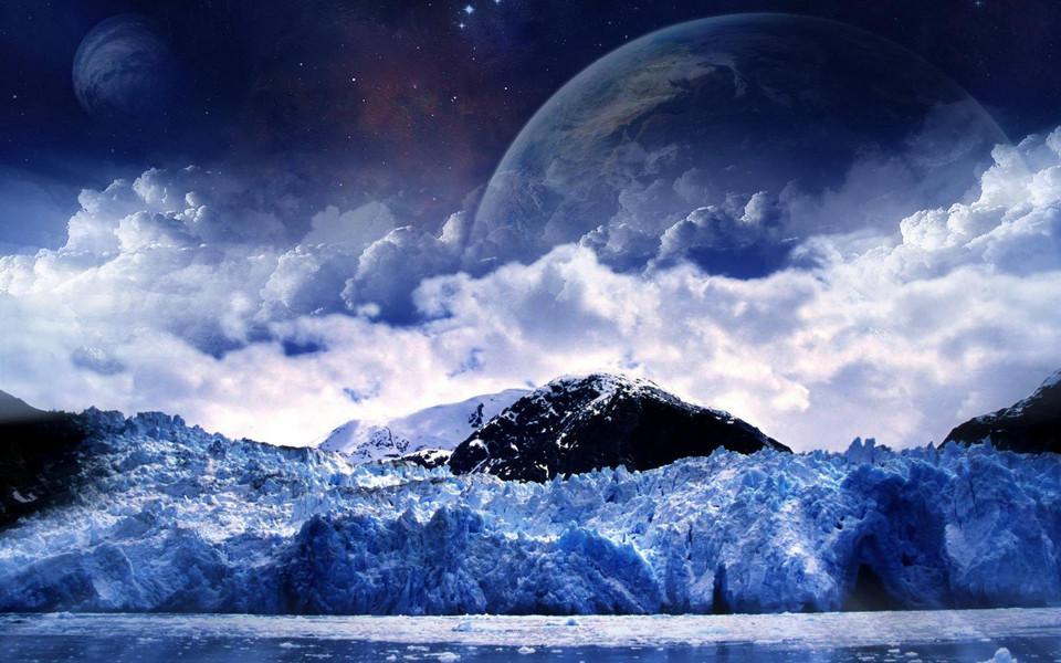 电脑壁纸 创意壁纸 创意星球美景设计高清壁纸下载