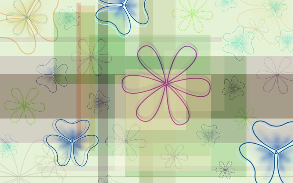 电脑壁纸 创意壁纸 手绘鲜花精美桌面壁纸下载