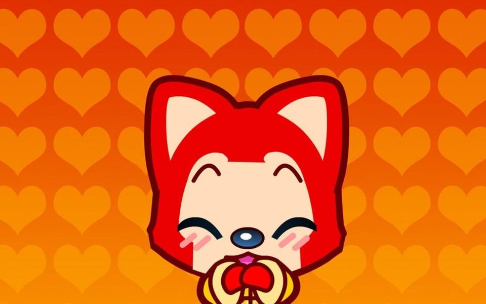 可爱的阿里狐电脑桌面壁纸