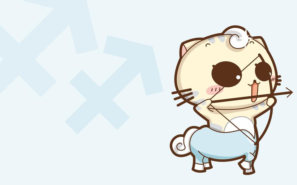 cc猫可爱卡通猫宽屏壁纸