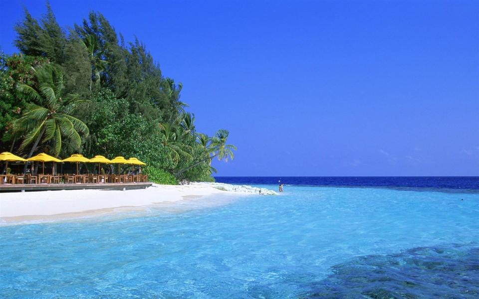 马尔代夫唯美海滩电脑壁纸