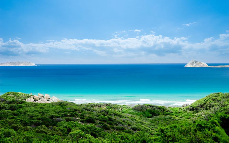 电脑壁纸 海滩壁纸 自然海景清新壁纸下载