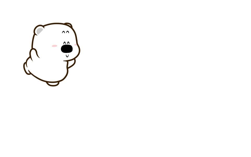 小囧熊超可爱电脑壁纸素材