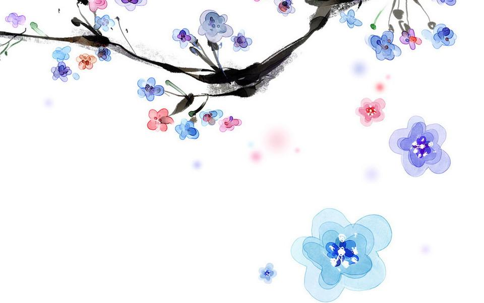 韩国浪漫手绘花卉壁纸 第10页-zol桌面壁纸