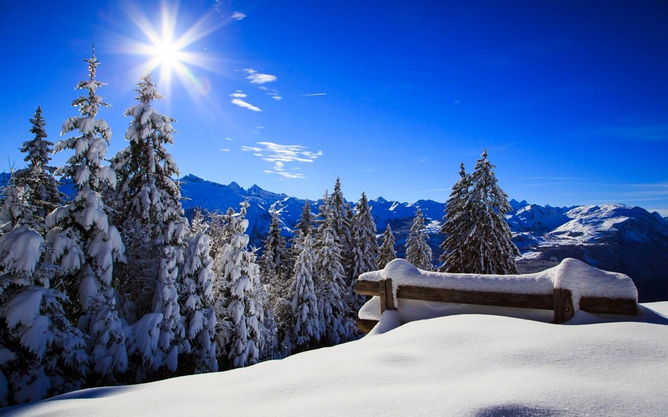 笔记本壁纸 唯美意境壁纸 冬季雪景超大壁纸下载