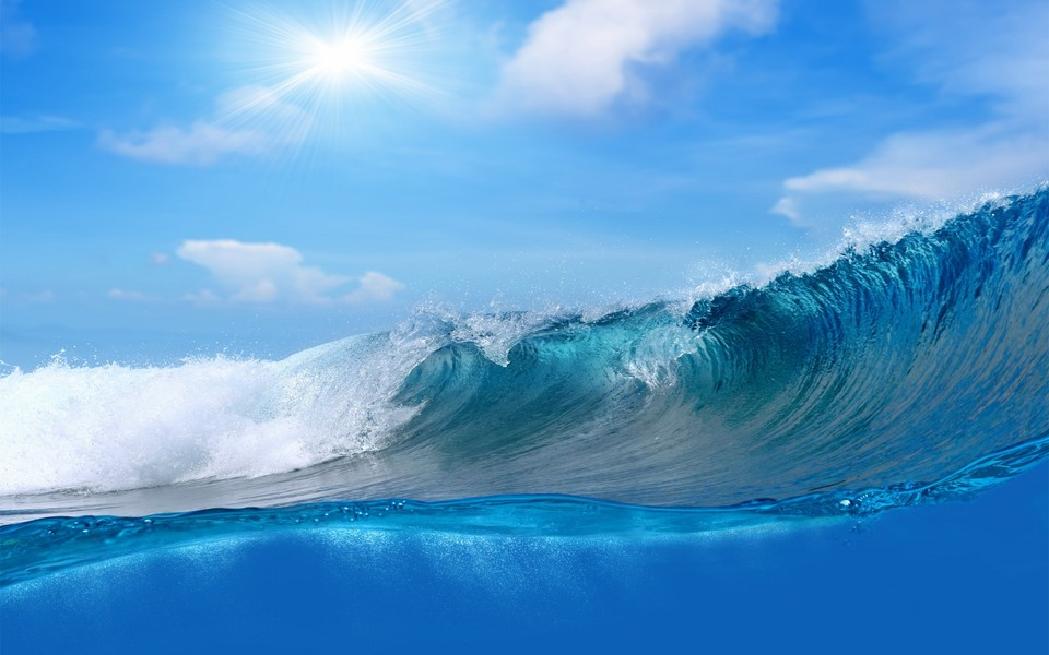 电脑壁纸 景色壁纸 壮观大海自然壁纸桌面下载