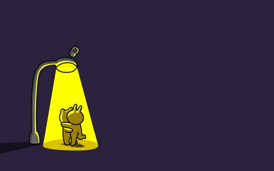 電腦壁紙 卡通壁紙 布朗熊可妮兔小黃雞桌面壁紙下載