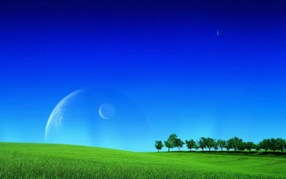 蓝色高清风景壁纸