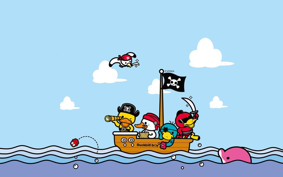 电脑壁纸 鸭嘴兽男孩壁纸 鸭嘴兽男孩星辰大海桌面壁纸下载
