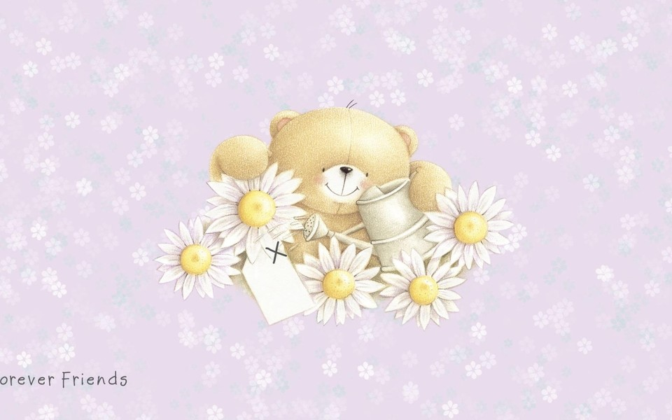 可爱小熊高清电脑壁纸