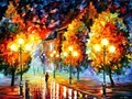 油画中秋天你怎么画都好看?