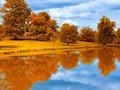 唯美意境大自然胡泊水中倒影图片壁纸