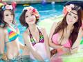 F90美女天团泳装照性感壁纸