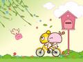 蘑菇点点新年情人节iPad壁纸