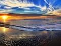 美丽海滩日落风景图片壁纸