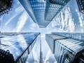 低角度城市摩天大楼建筑图片壁纸
