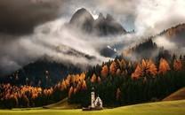 田园欧洲城堡自然风景壁纸