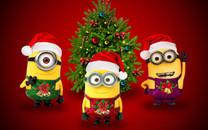 小黄人圣诞节壁纸