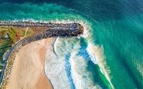红色海岸高清美景图片壁纸