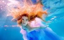 水下的女孩美女唯美意境图片壁纸