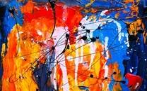 多彩颜料背景图片壁纸