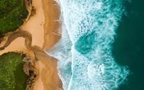 高清蓝色海岸绿色图片壁纸