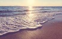 海滩日落超大高清壁纸