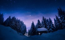 冬季夜晚星空图片壁纸大全