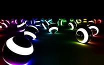 3D圆球发光图片背景壁纸