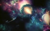 闪耀唯美多彩宇宙星球壁纸