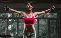 运动美女健身美照好身材遮不住
