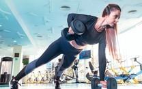 健身美女大秀完美身材图片壁纸