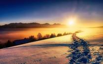 冬季雪景优美自然风景高清图片桌面壁纸2