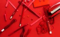 红色背景超清图片壁纸