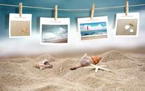 沙滩唯美壁纸图片