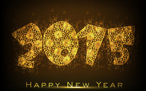 金色2015新年壁纸桌面