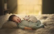 小宝贝与动物图片壁纸