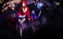 红色女巫美女壁纸图片