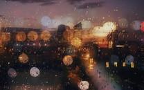 雨中唯美自然景色
