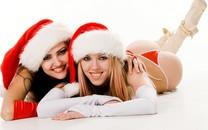 圣诞制服性感女孩